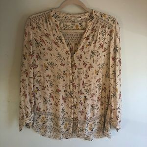 LUCKY Brand light flowered top Size S/P